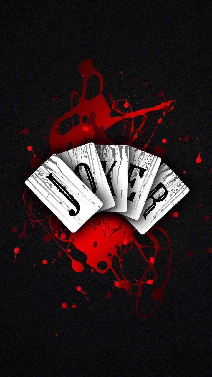 Joker Blood Cards iPhone Wallpaper