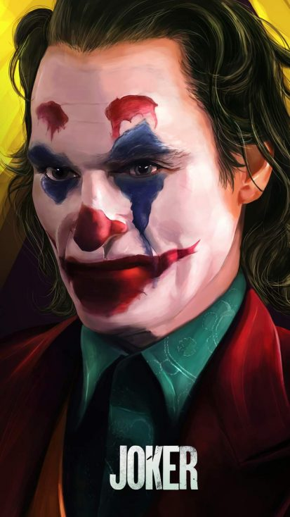 Joker Closeup Face iPhone Wallpaper