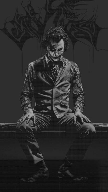Joker Darkness iPhone Wallpaper