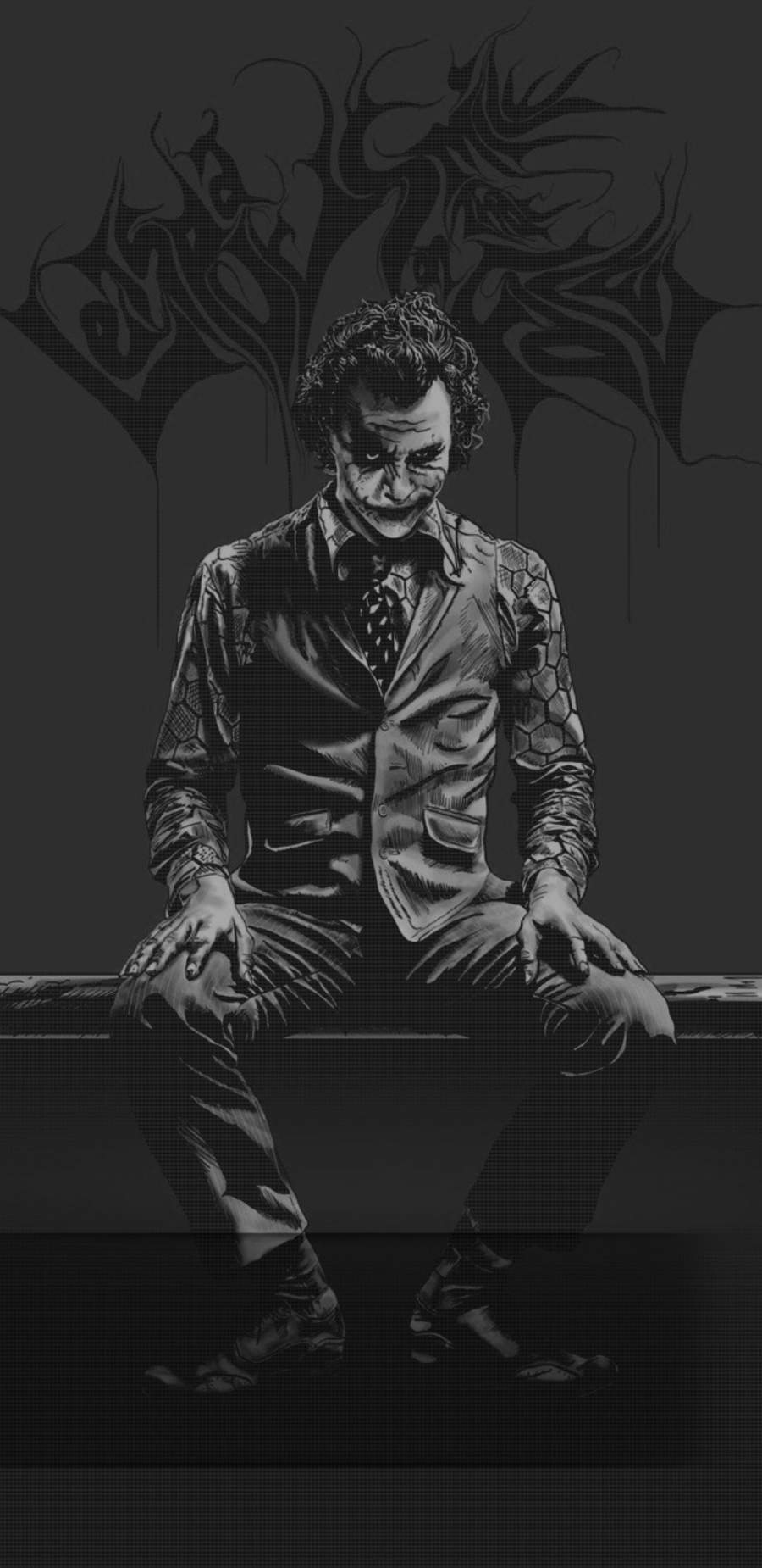 Joker Darkness iPhone Wallpaper