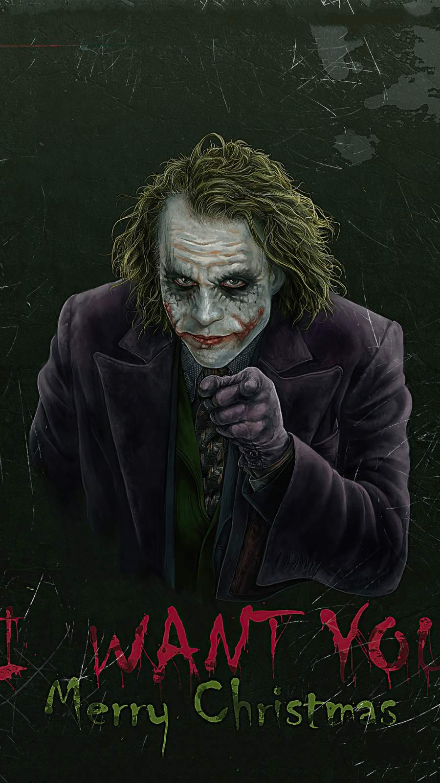 Joker Merry Christmas iPhone Wallpaper