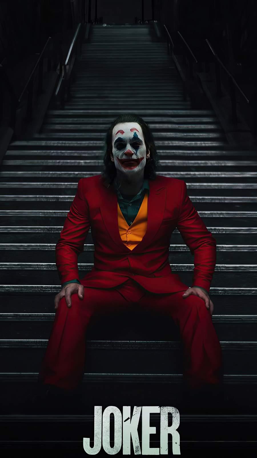 Joker Stairs iPhone Wallpaper