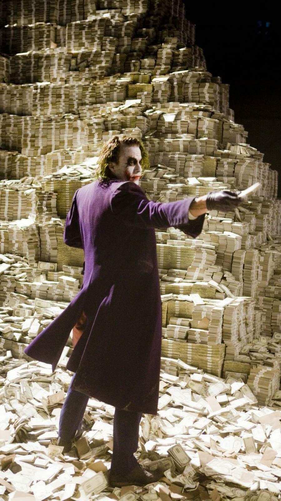 Joker with Money Wallpaper