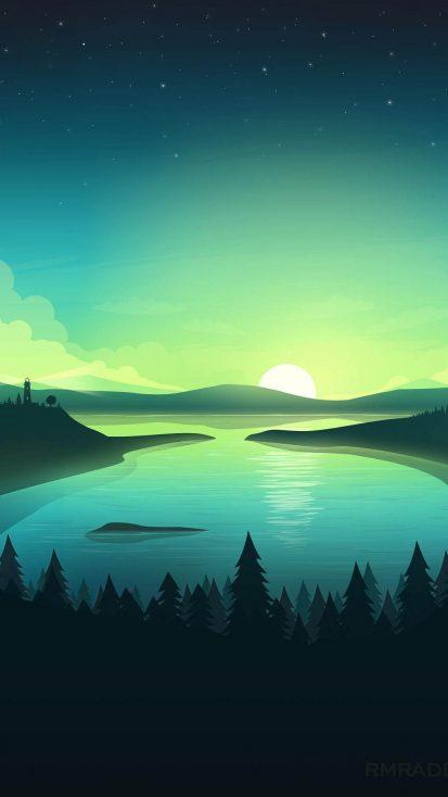 Lighthouse Nature Minimalism iPhone Wallpaper