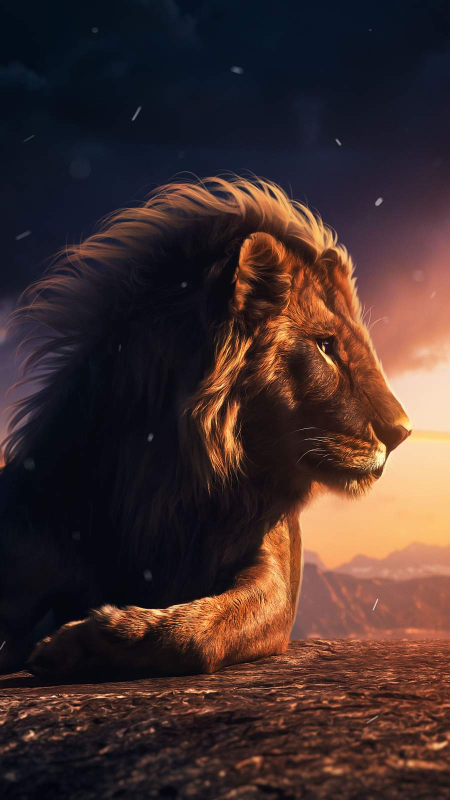 Lion King 4K iPhone Wallpaper