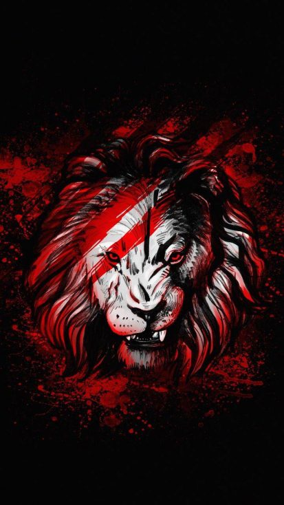 Lion Red Art