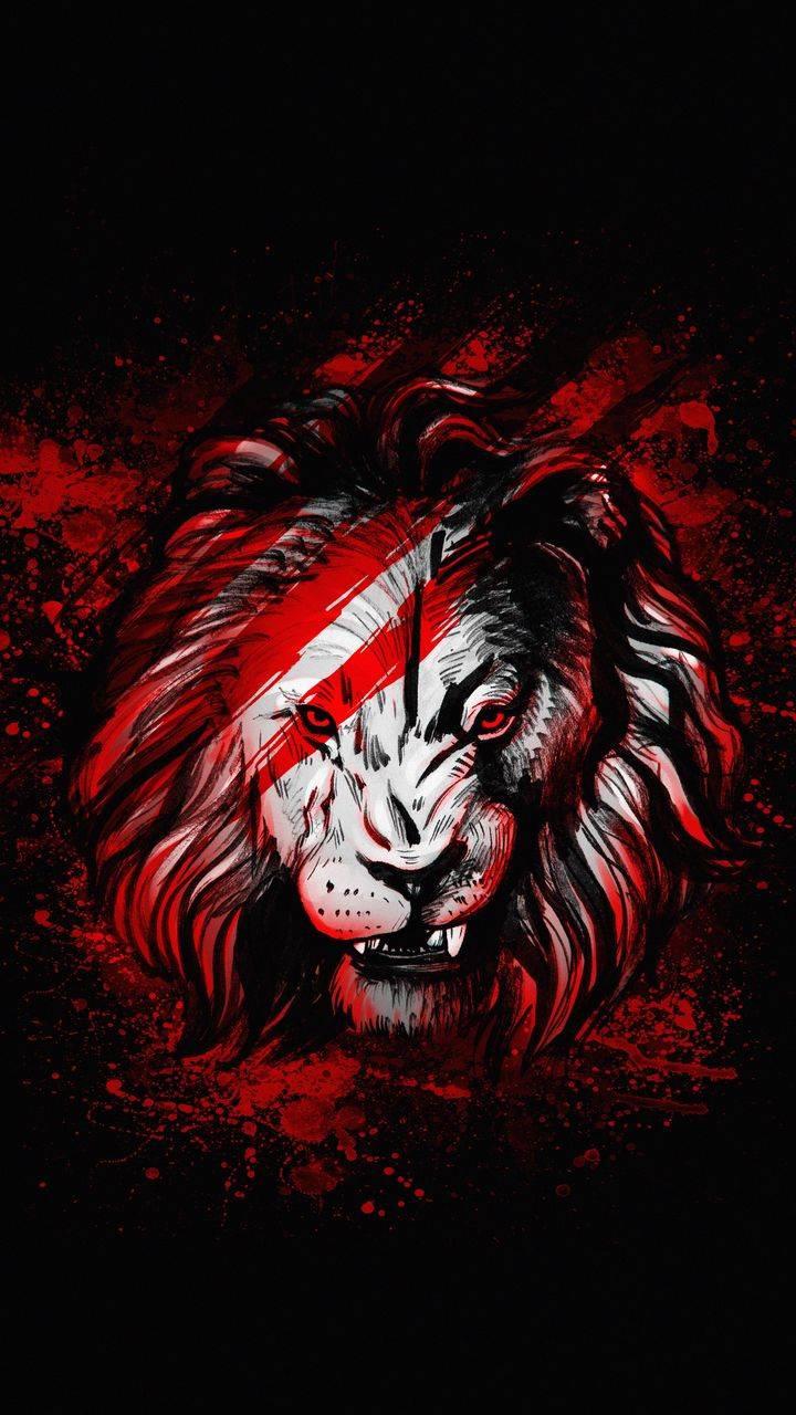 Lion Red Art