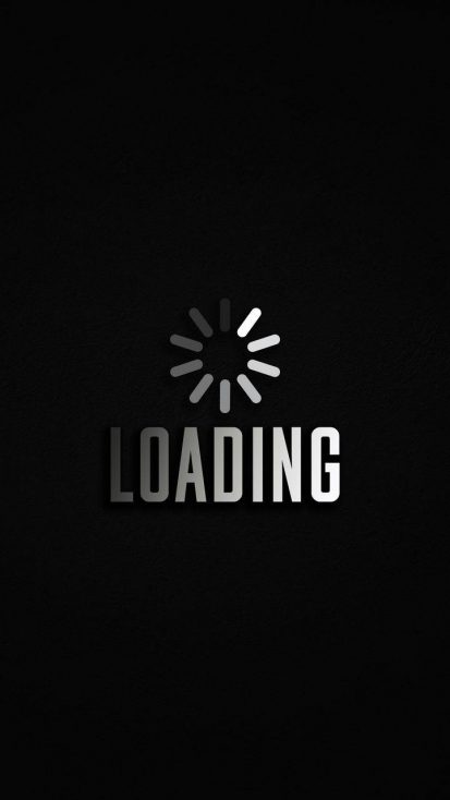 Loading Wait iPhone Wallpaper