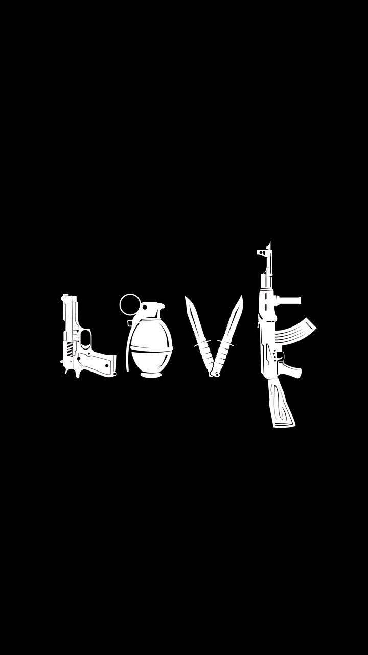 Love is War iPhone Wallpaper