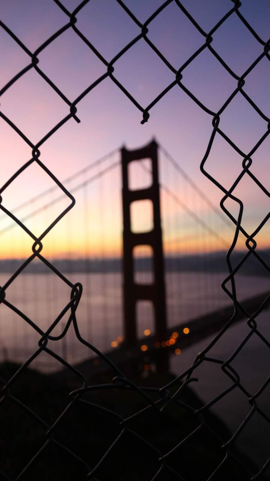 Morning Bridge Sunrise iPhone Wallpaper