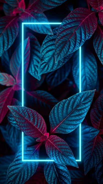 Neon Nature Foliage Wallpaper
