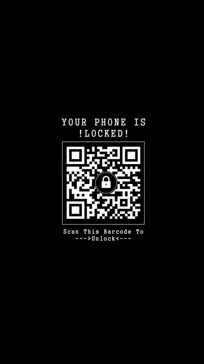Scan Barcode to Unlock iPhone Wallpaper