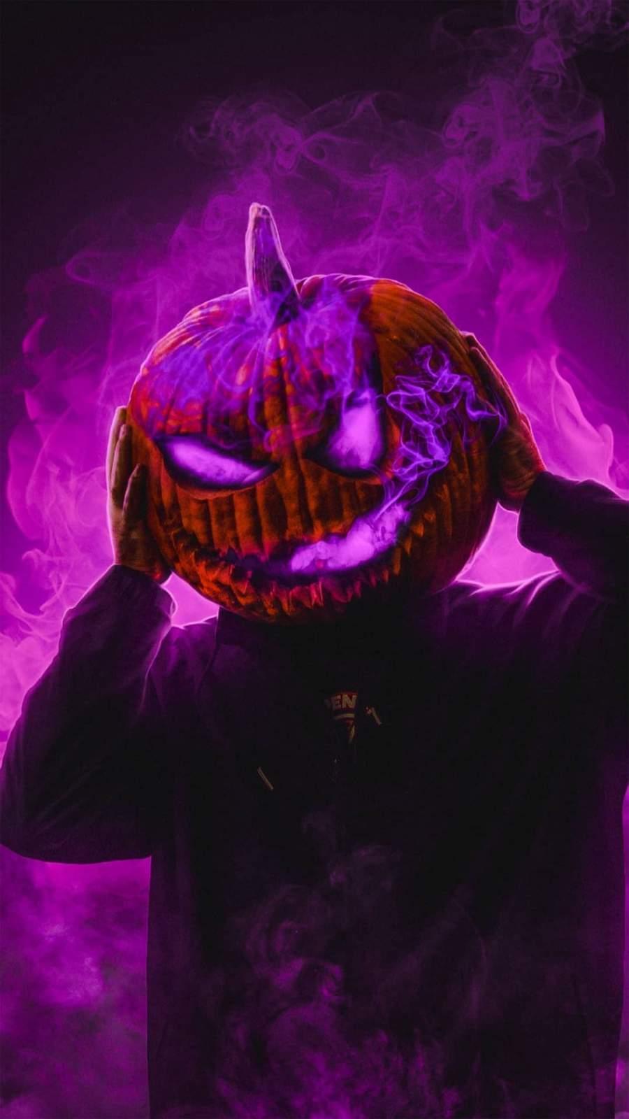 Scary Pumpkin iPhone Wallpaper