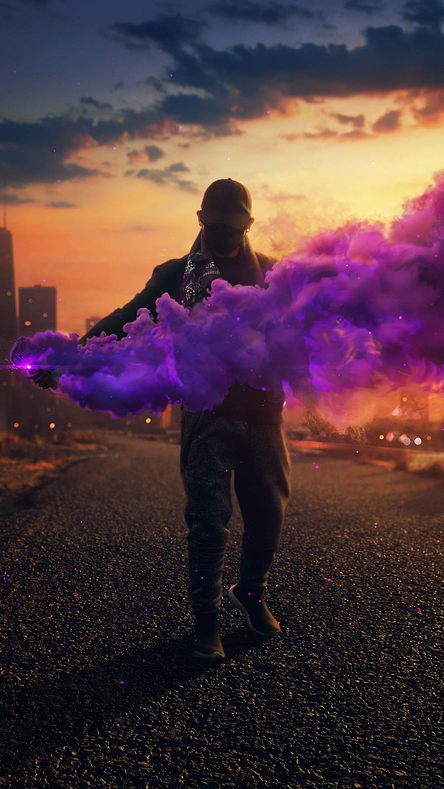 Smoke Bomb Guy iPhone Wallpaper