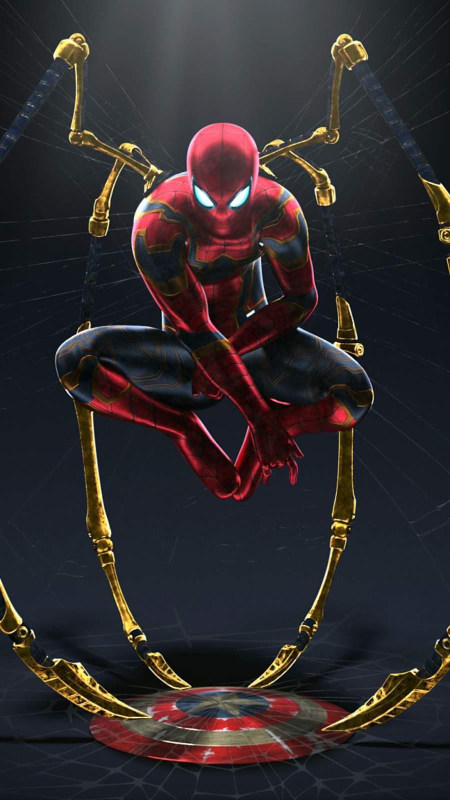 Spiderman vs Captain America iPhone Wallpaper
