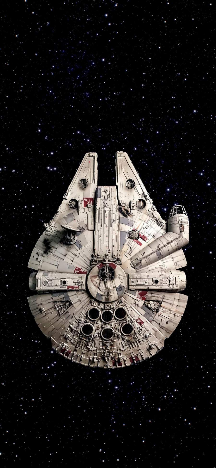 Star Wars Millennium Falcon Ship iPhone Wallpaper