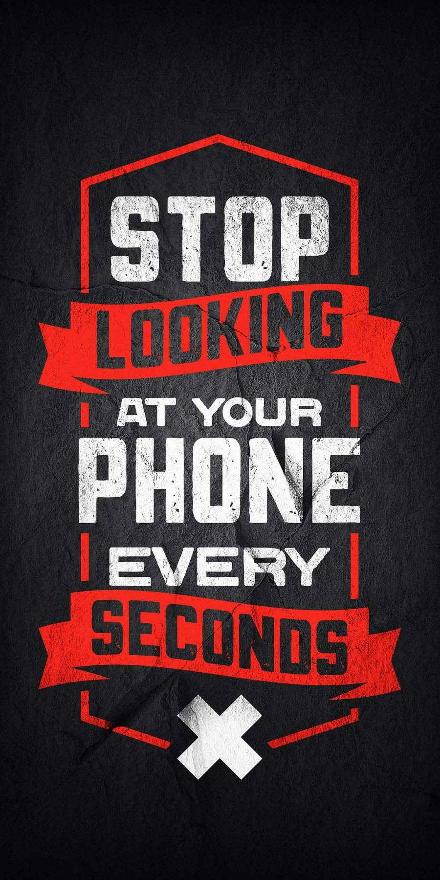 Stop Looking at your Phone iPhone Wallpaper