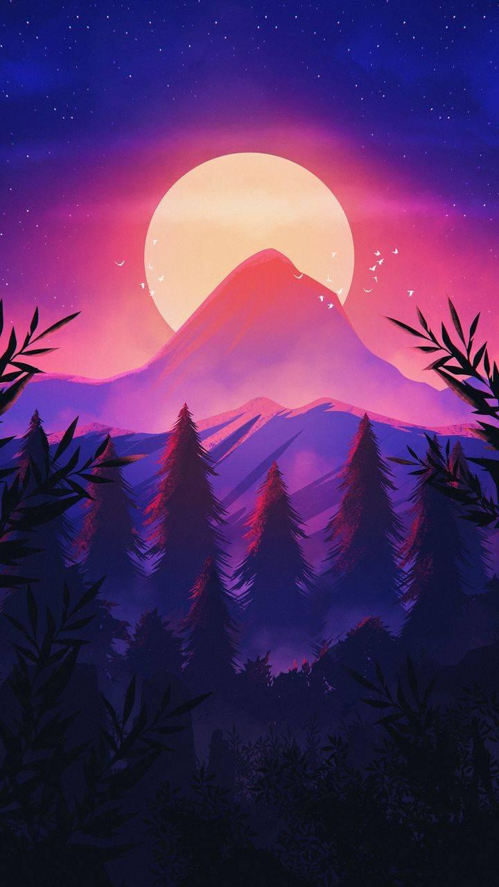 Sunrise Mountain Scenery iPhone Wallpaper
