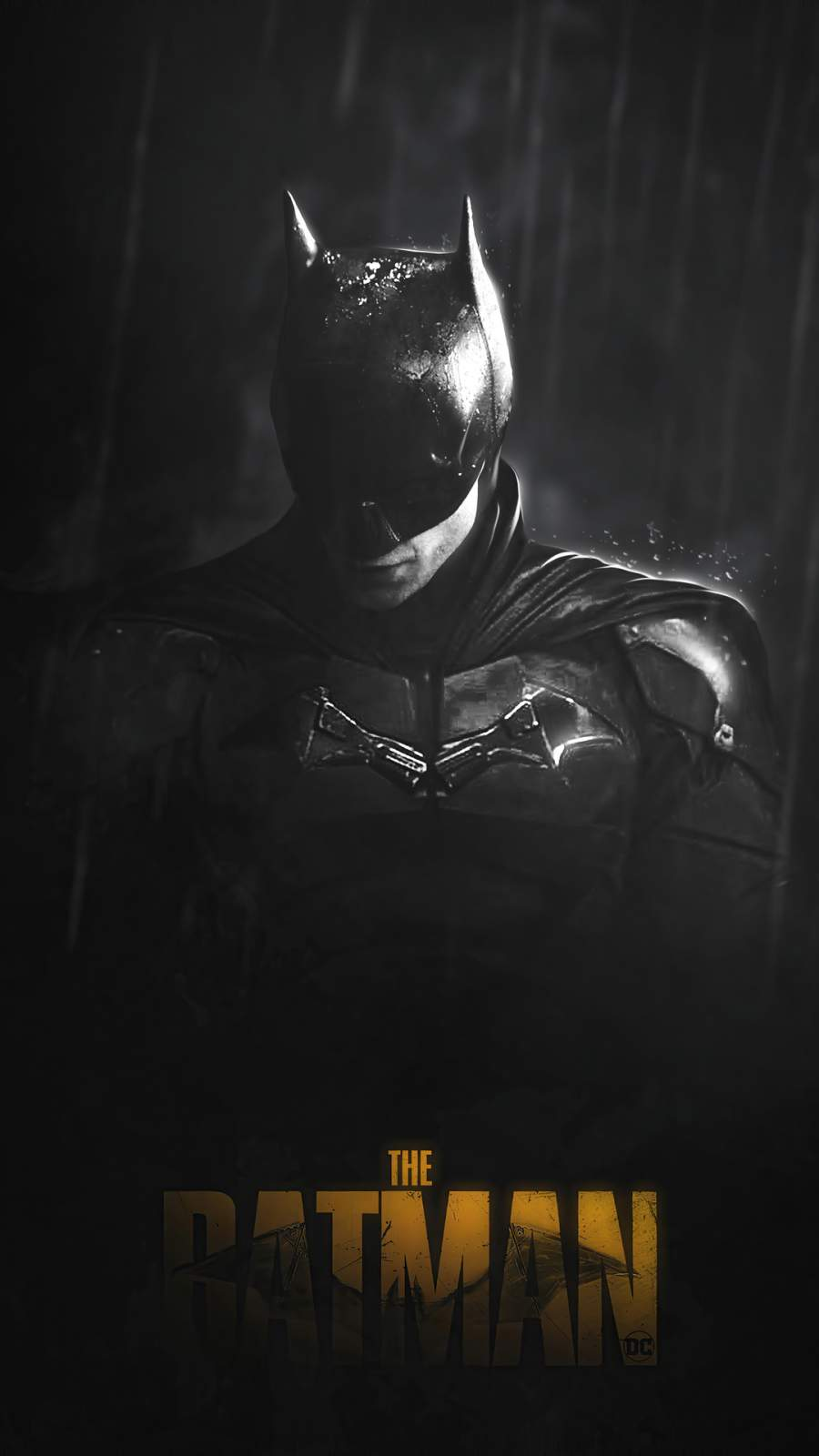 The Batman Monochrome iPhone Wallpaper