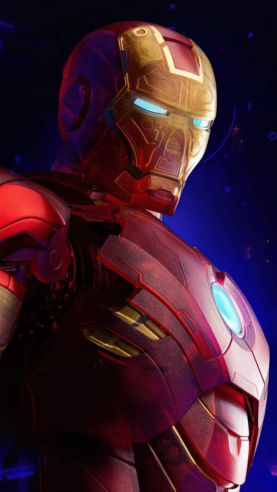 The Iron Man New Suit Design iPhone Wallpaper