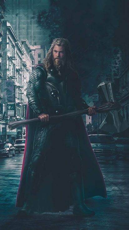 Thor Stormbreaker iPhone Wallpaper