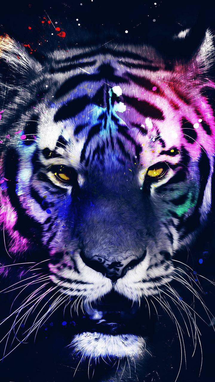 Tiger Art iPhone Wallpaper