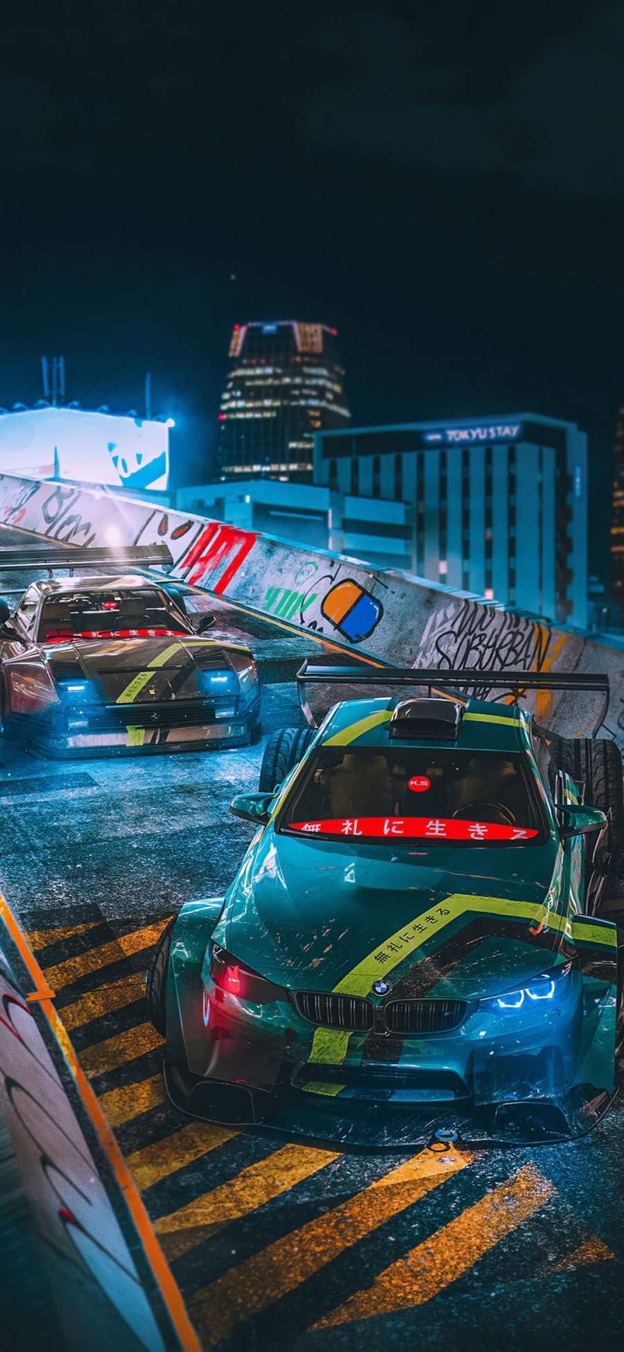 Tokyo Drift Cars iPhone Wallpaper