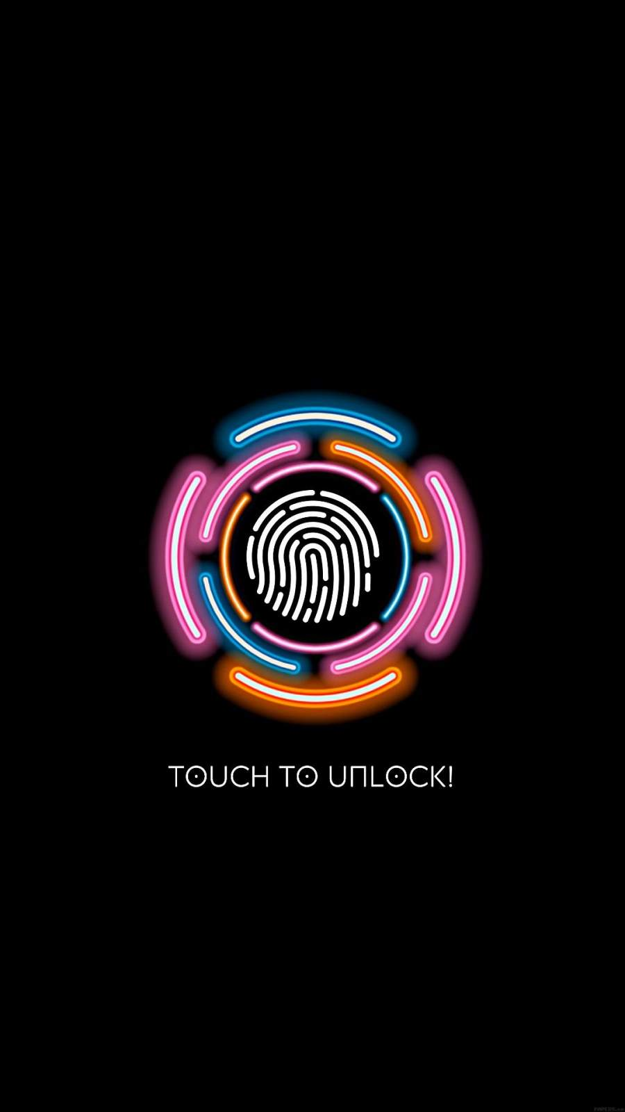 Touch to Unlock iPhone Wallpaper