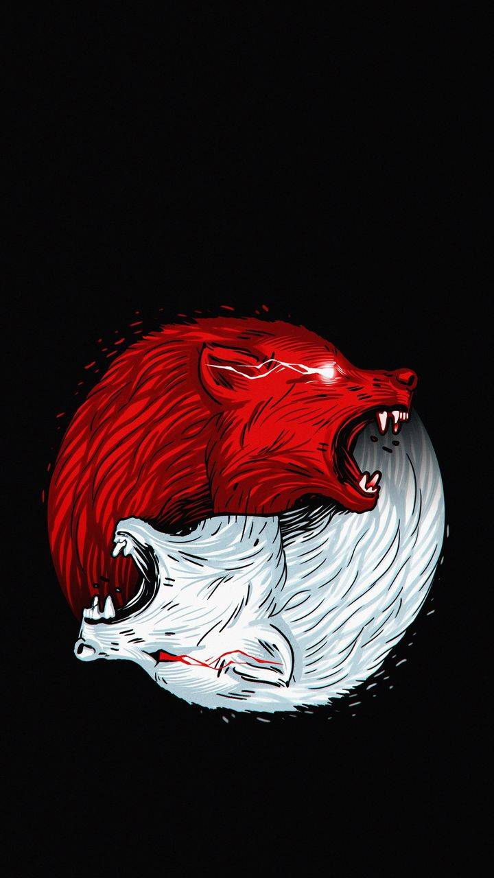 Wolf Art iPhone Wallpaper