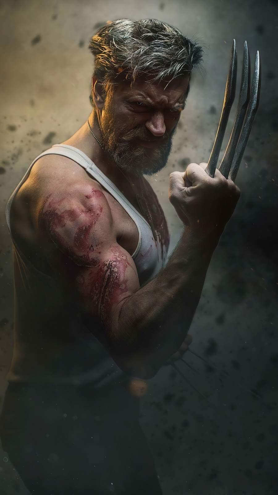 Wolverine Cosplay iPhone Wallpaper