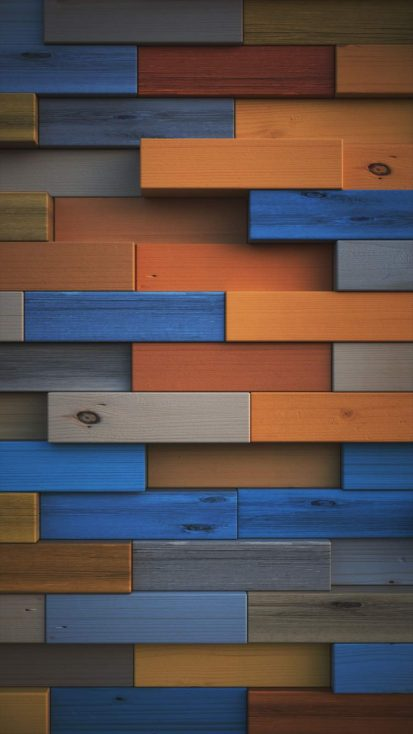 Wood Tiles Colorful Background