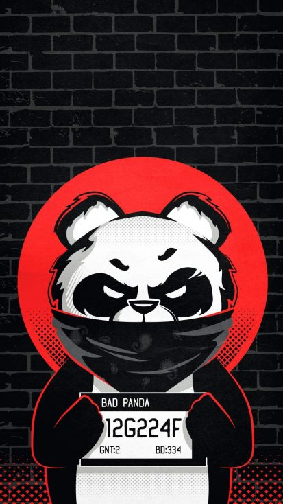 BAD Panda iPhone Wallpaper