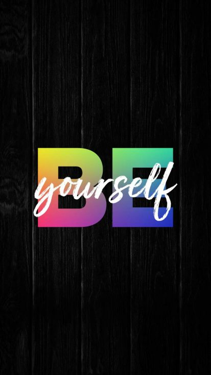 BE Yourself iPhone Wallpaper