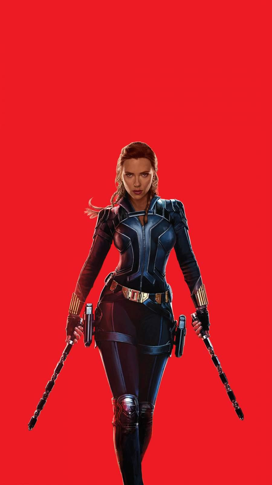 Black Widow iPhone Wallpaper