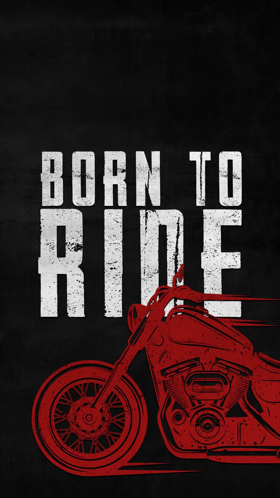 Born to Ride iPhone Wallpaper