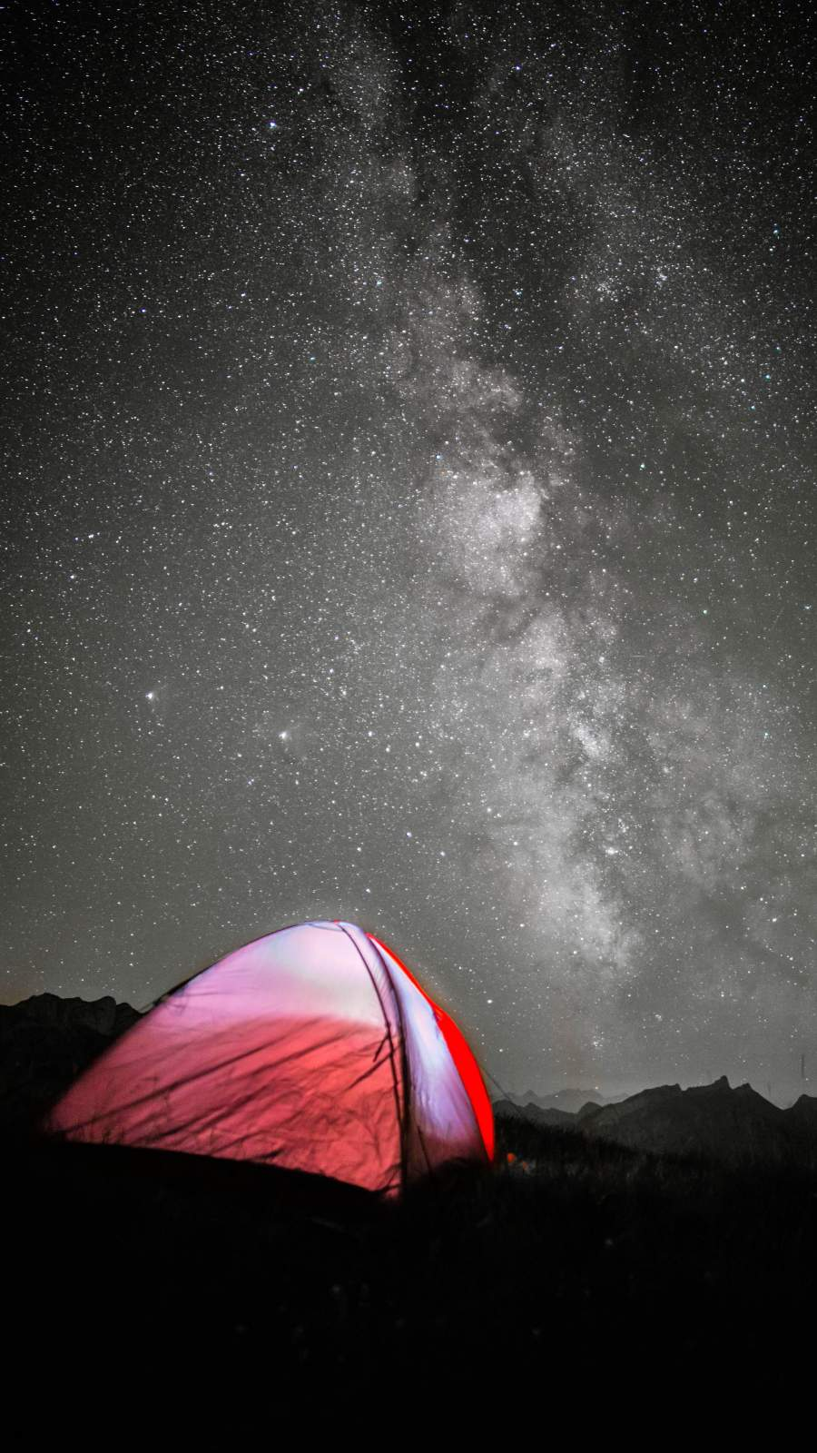 Camping Night iPhone Wallpaper