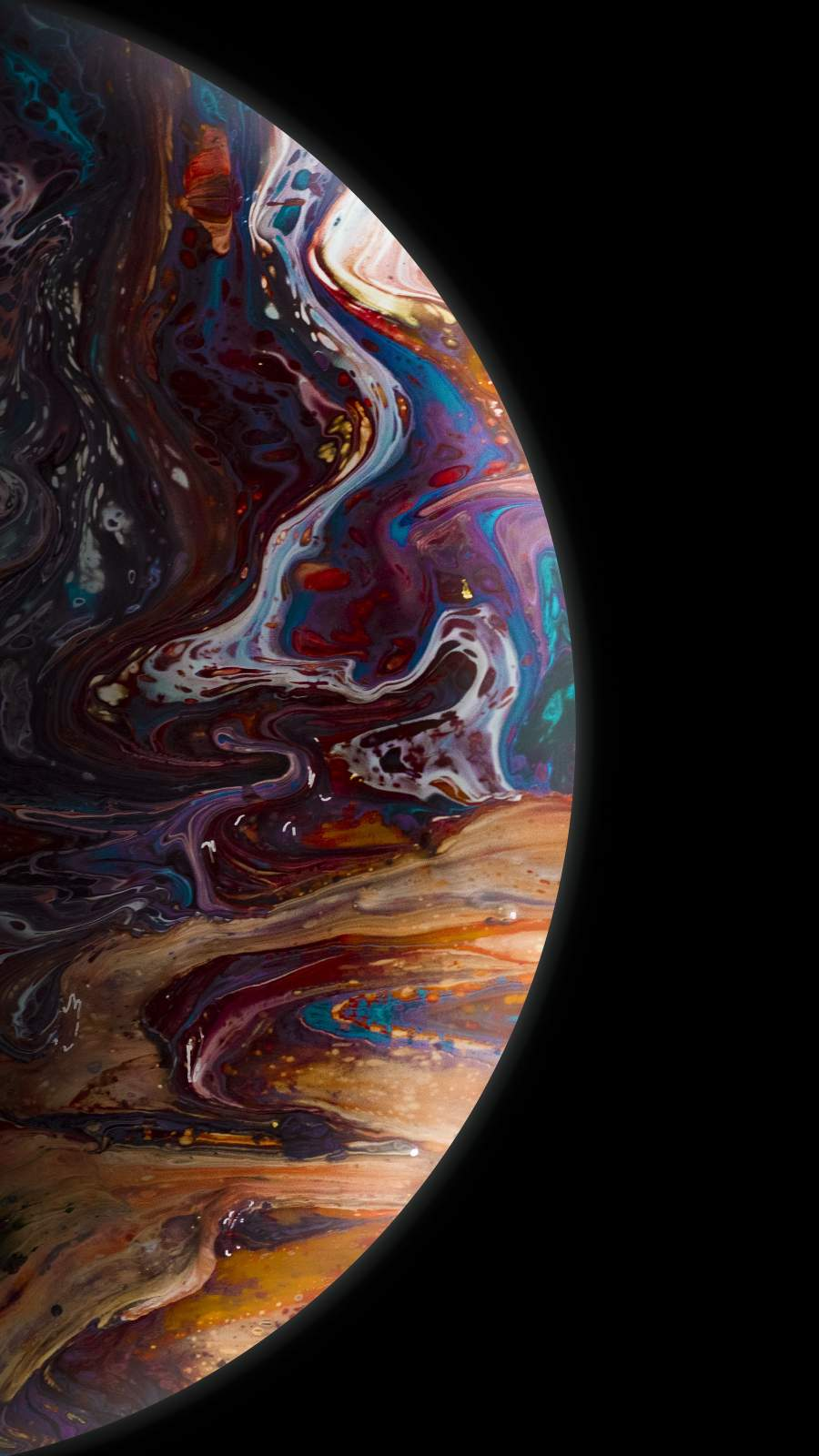Colorful Planet iPhone Wallpaper
