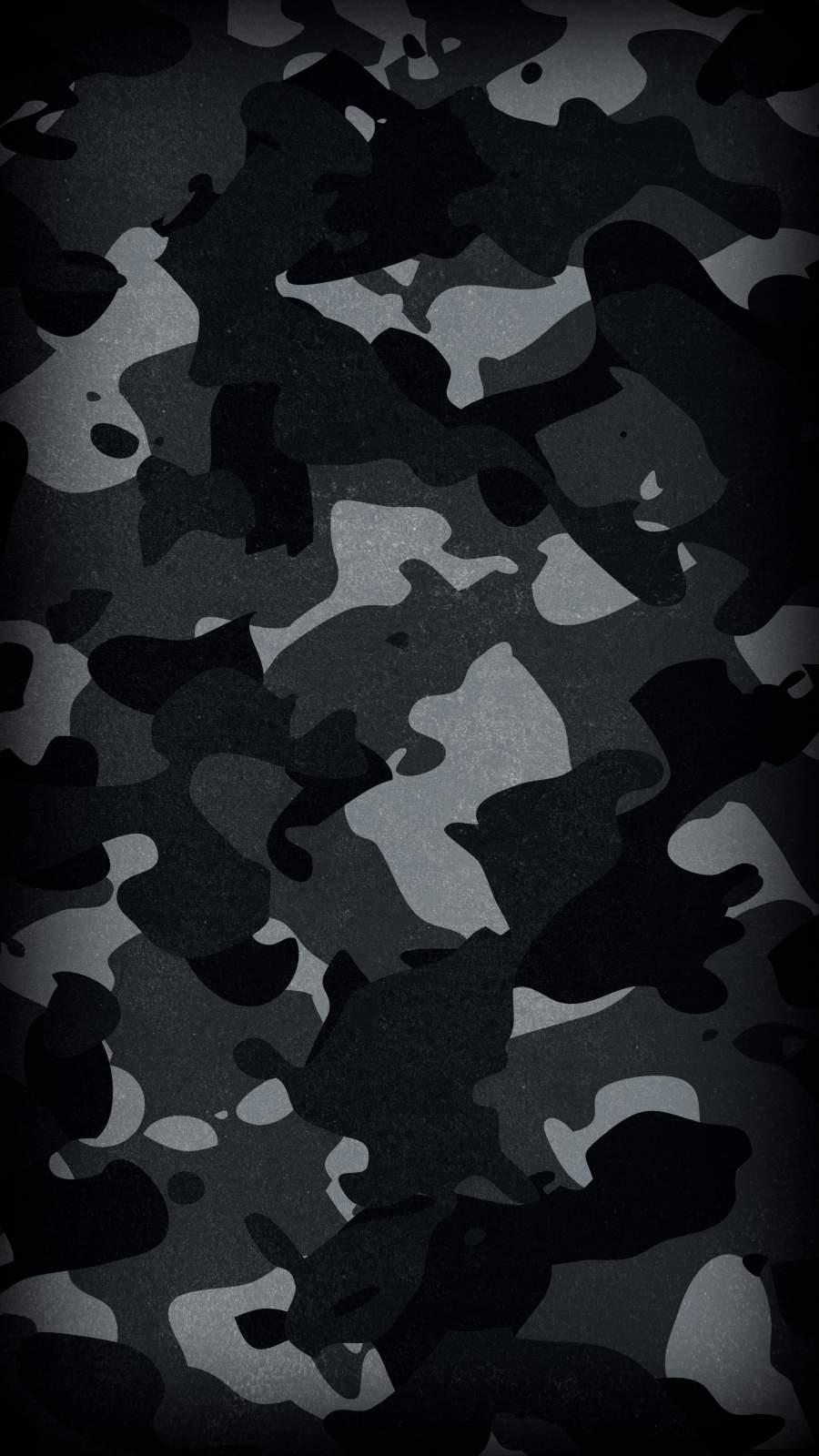 Dark Camouflage iPhone Wallpaper