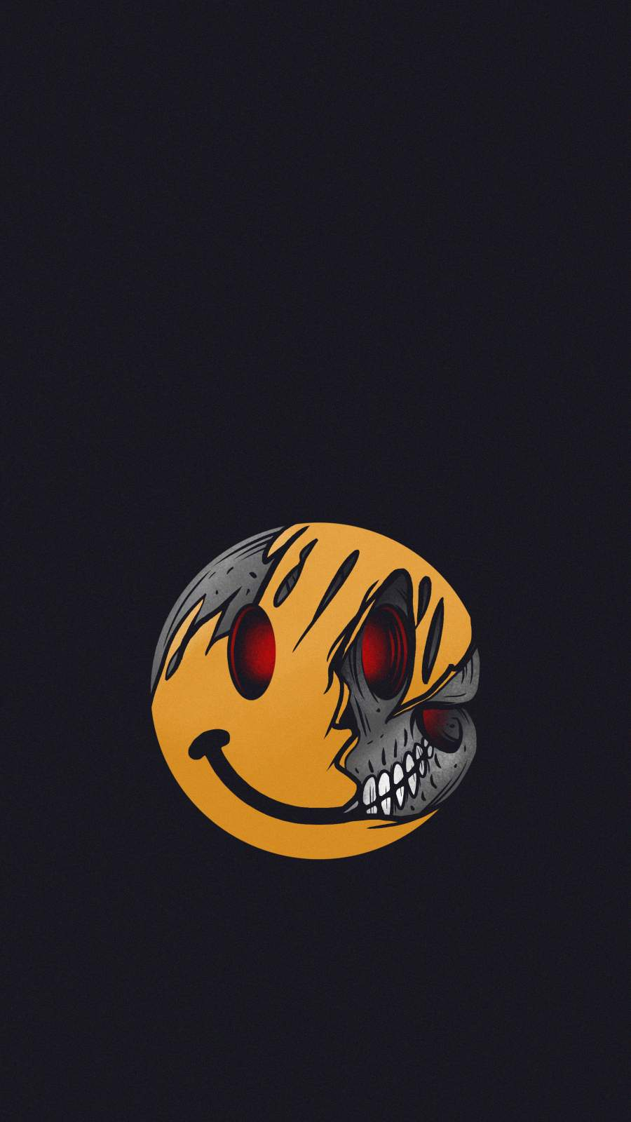 Dead Smiley iPhone Wallpaper