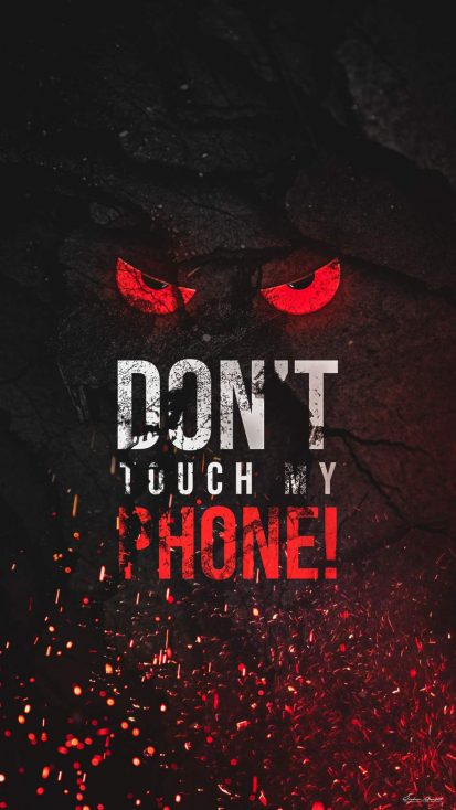 Dont Touch iPhone Wallpaper