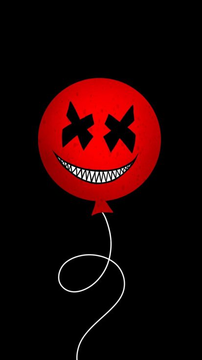 Evil Balloon iPhone Wallpaper