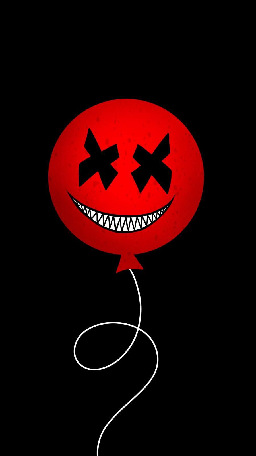 Evil Balloon iPhone Wallpaper