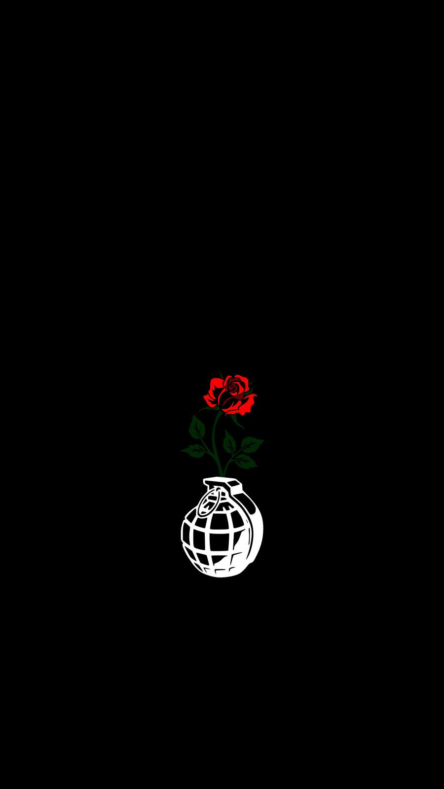 Flower Grenade iPhone Wallpaper