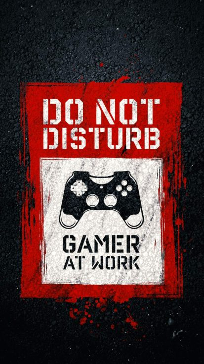 Gamer At Work iPhone Wallpaper