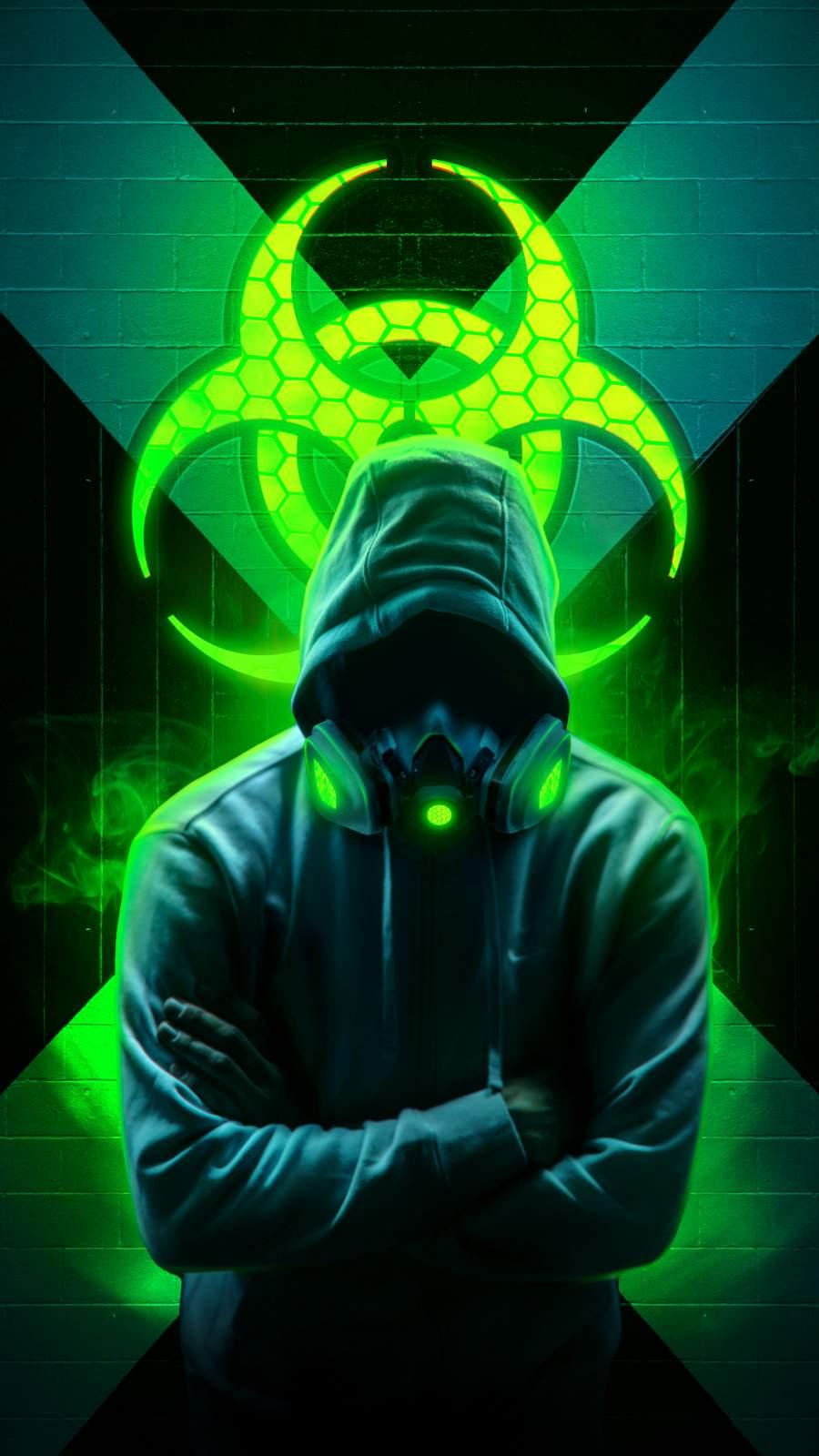 Green Biohazard iPhone Wallpaper