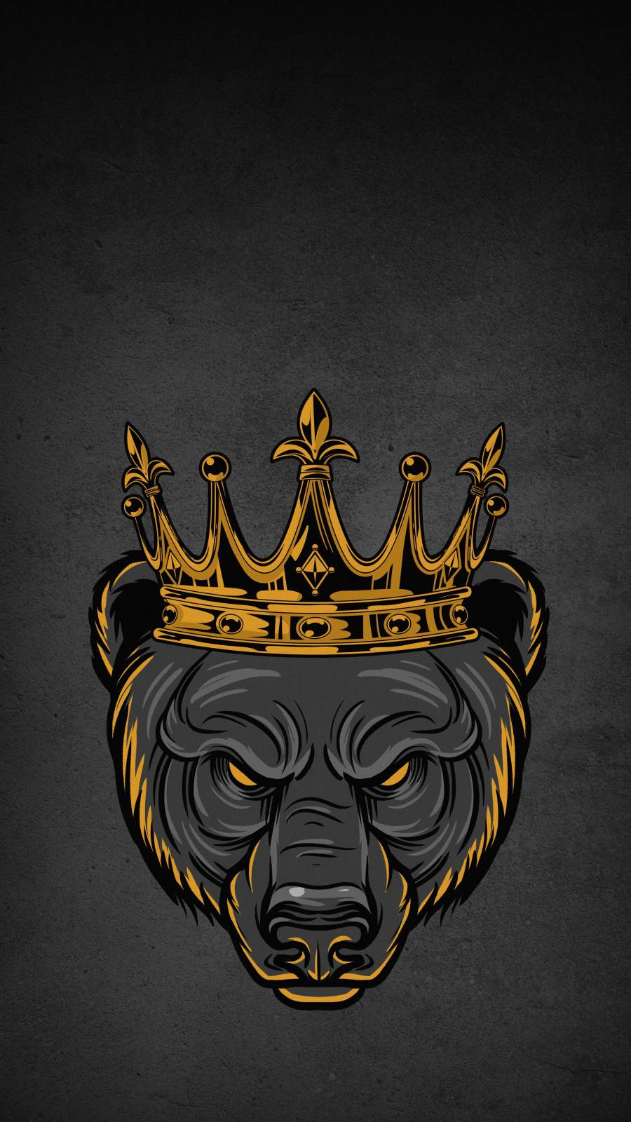 Grizzly King iPhone Wallpaper