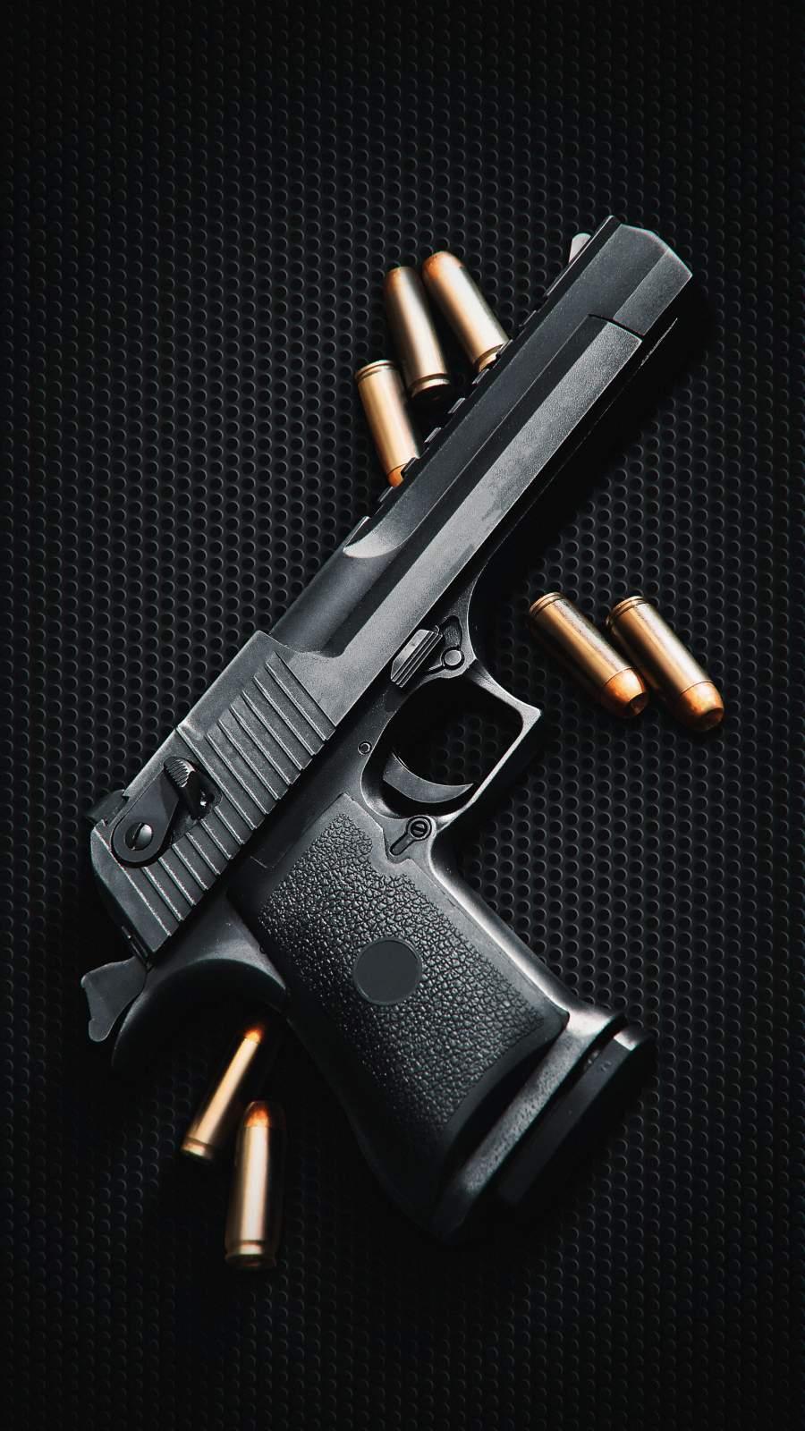 Gun and Bullets iPhone Wallpaper