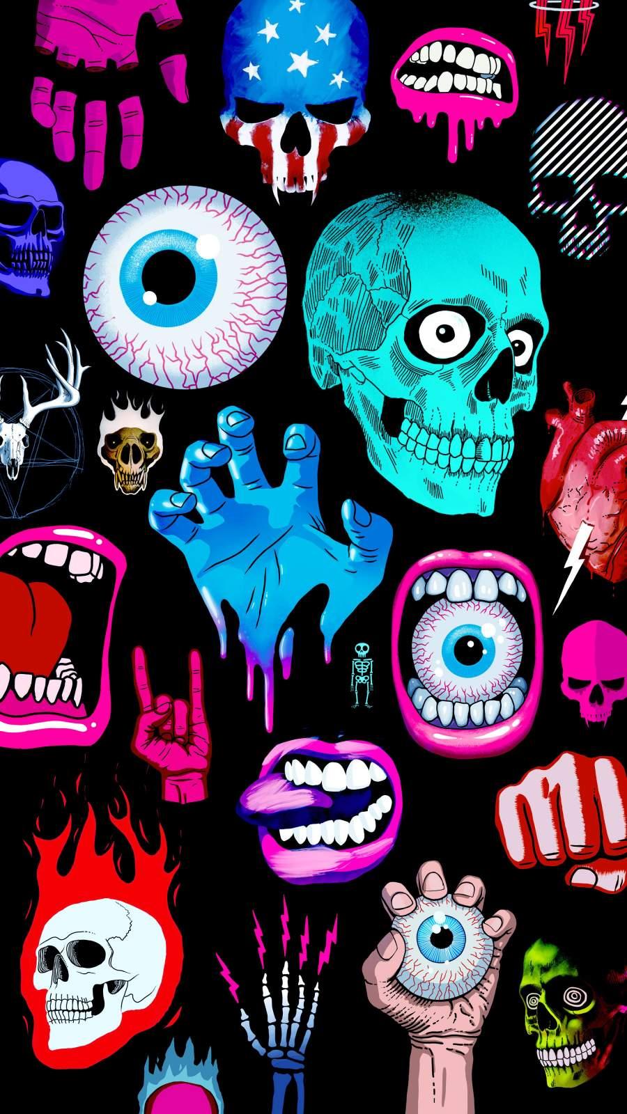 Halloween Bad Things iPhone Wallpaper