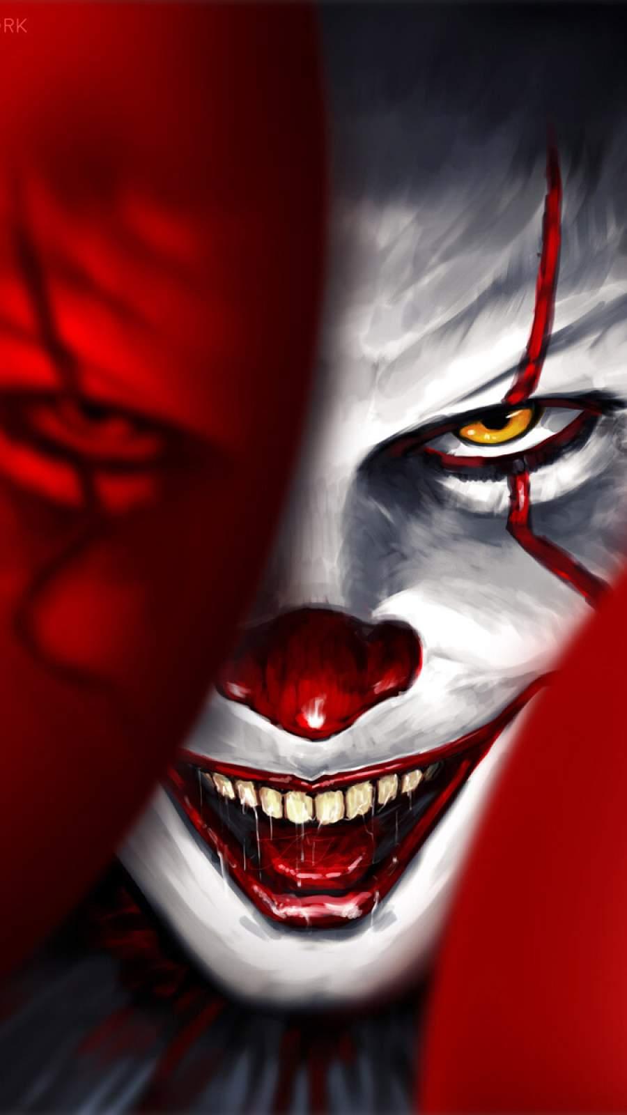 Halloween Clown iPhone Wallpaper