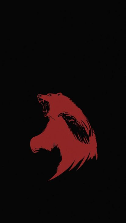 Hungry Bear iPhone Wallpaper